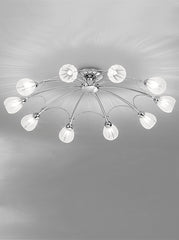 FLF1144-10C Semi Flush Ceiling - Traditional, Ceiling Statement Pieces