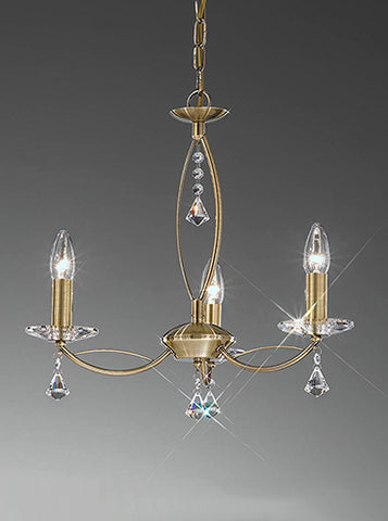 FLF1158-3B Sienna 3 Light Fitting Bronze