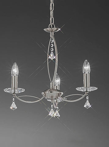 FLF1158-3S Sienna 3 Light Fitting Satin Nickel