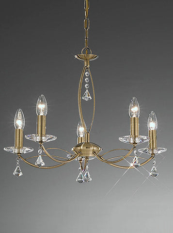 FLF1158-5B Sienna 5 Light Fitting Bronze