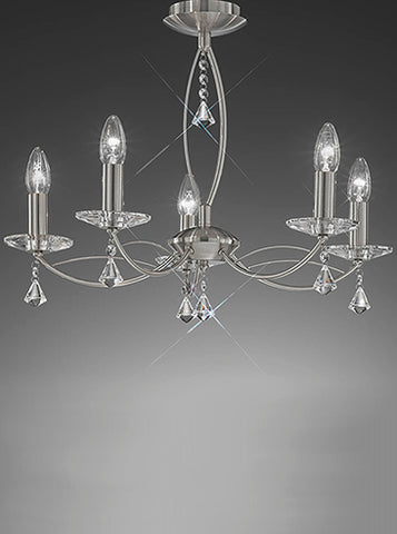 FLF1158-5S Sienna 5 Light Fitting Satin Nickel