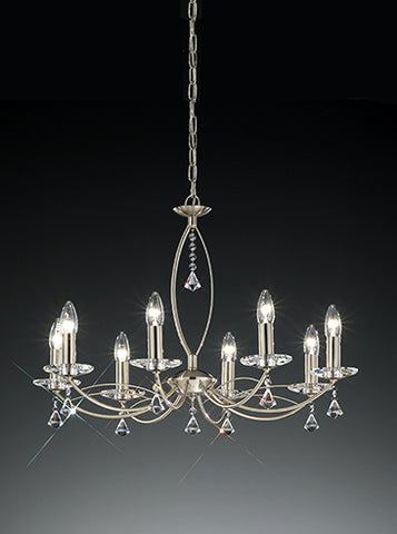 FLF1158-8S Sienna 8 Light Fitting Satin Nickel