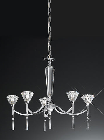 FLF1314-5C Isabelle 5 Light Fitting Chrome