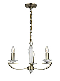 FLF1318-3B Esme 3 Light Fitting Bronze