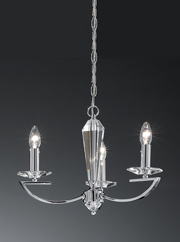 FLF1318-3C Esme 3 Light Fitting Chrome