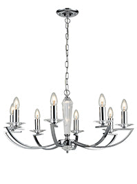 FLF1318-8C Esme 8 Light Fitting Chrome