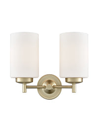 FLF1472-2WLG Phoebe 2 Light Bracket Gold Colour