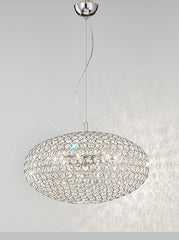 FLF1474-6C Crystal Ceiling Chandeliers, Ceiling Statement Pieces