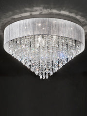 FLF1489-10 Semi Flush Ceiling - Crystal
