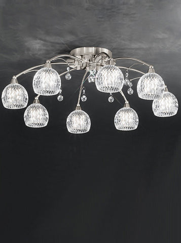 FLF1523-8S Layla 8 Light Fitting Satin Nickel
