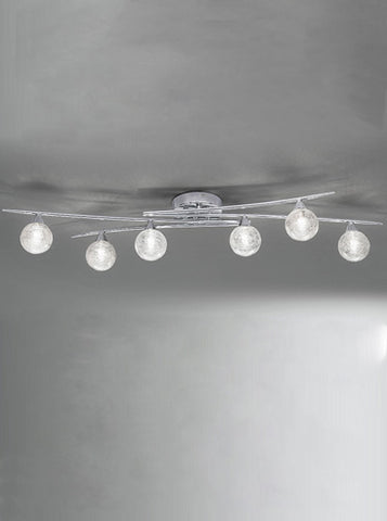 FLF1531-6 Chloe 6 Light Fitting Chrome