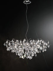 FLF1572-15C Stairwell Ceiling Pendants, Ceiling Statement Pieces, Crystal Ceiling Chandeliers