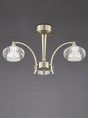 FLF1592-3S Semi Flush Ceiling - Traditional