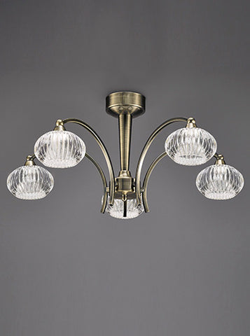 FLF1592-5B Lola 5 Light Ceiling Fitting Bronze