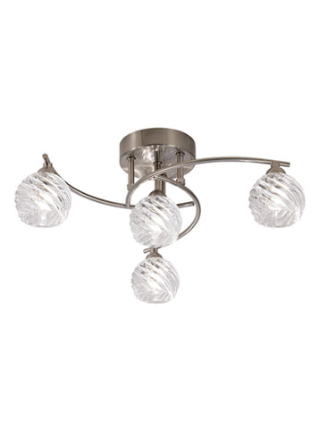 FLF1646-3S Emilia 4 Light Fitting Satin Nickel