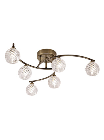 FLF1646-6B Emilia 6 Light Fitting Bronze