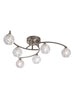 FLF1646-6S Emilia 6 Light Fitting Satin Nickel