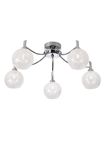FLF1649-5C Hannah 5 Light Fitting Chrome