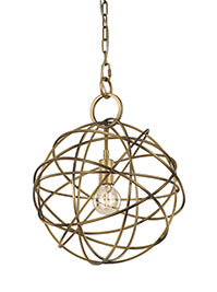 FLF1666-1 Georgia 1 Light Pendant Painted Antique / Gold