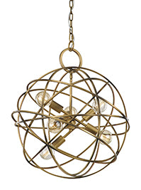 FLF1666-6 Georgia 6 Light Pendant Gold Colour