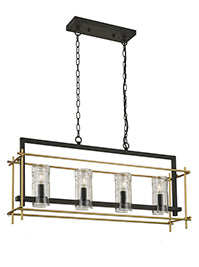 FLF1669- 4B Emma 4 Light Pendant Antique Iron
