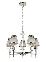FLF1706-5C Sophia 5 Light Fitting Chrome