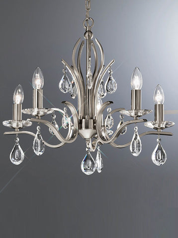 FLF1718-5S Luna 5 Light Fitting Satin Nickel