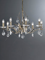FLF1718-8B Crystal Ceiling Chandeliers, Ceiling Statement Pieces