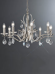 FLF1718-8S Crystal Ceiling Chandeliers, Ceiling Statement Pieces
