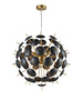 FLF1728-6 Darcie 6 Light Pendant Black / Gold