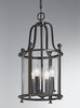 FLF1758-4B Aurora 4 Light Lantern Antique Bronze