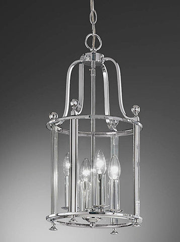 FLF1758-4C Aurora 4 Light Lantern Chrome
