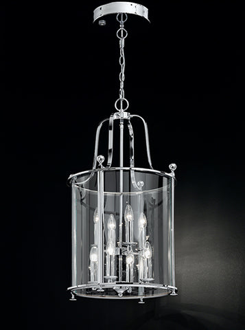 FLF1758-8C Aurora 8 Light Lantern Chrome