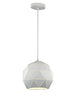 FLF1848-190 Mia Small Pendant White