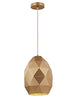 FLF1852-230 Mia Oval Pendant Gold Colour