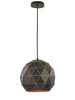 FLF1856-300 Mia Medium Pendant Black / Gold