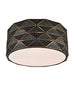 FLF1856-FL Mia Flush Ceiling Fitting Black / Gold