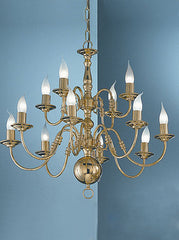 FLF1875-12BR Traditional Ceiling Chandeliers