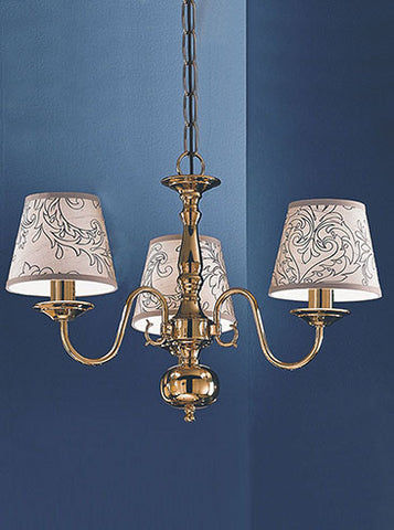 FLF1875-3BR Clara 3Lt Fitting Polished Brass