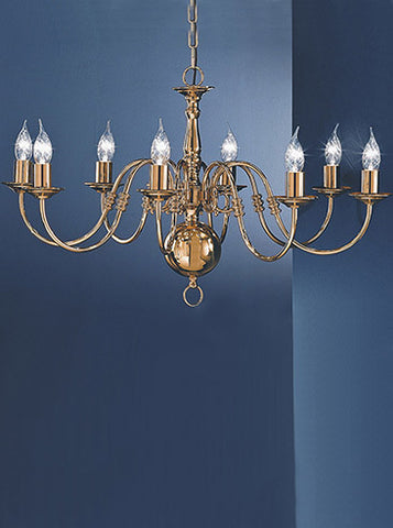 FLF1875-8BR Clara 8Lt Fitting Polished Brass