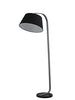 FLF2201 Standard Lamp with Black Shade Dark Grey