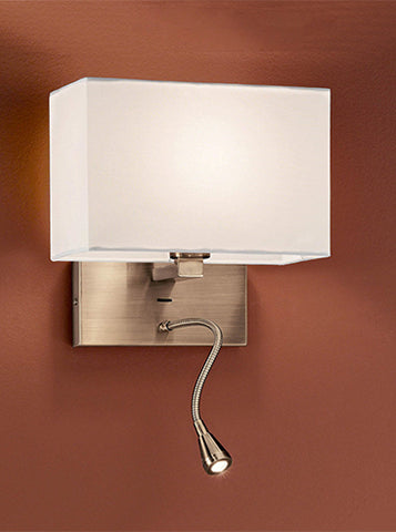 FLF2309 Wall Bracket with LED Bronze