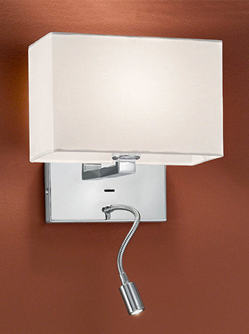 FLF2316 Wall Bracket with LED Reading Light Chrome