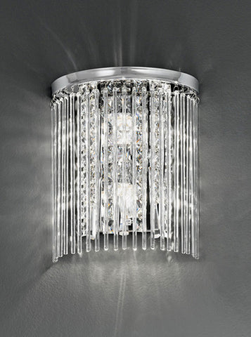 FLF2317 Wall Light IP44 Crystal Chrome