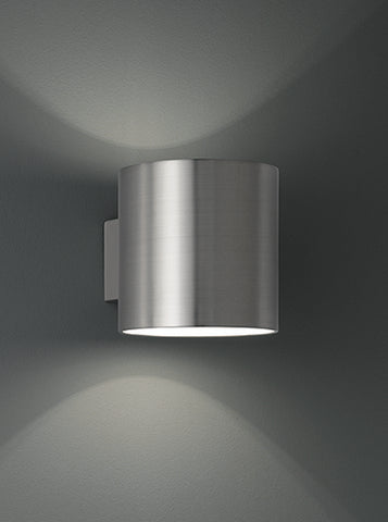 FLF2325 Cylinder Wall Light Satin Nickel