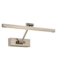 FLF2343-1S LED Square Section Picture Light 8W Satin Nickel