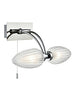 FLF2362 Bathroom2 Light Wall Bracket IP44 Chrome