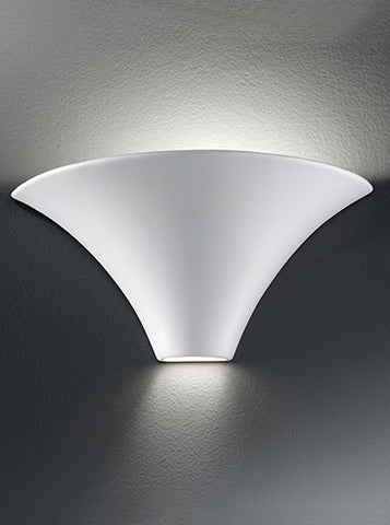FLF2413 Ceramic Uplighter Ceramic - can be painted