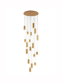 FLF3415-18G Eileen 18 Light Fitting in Brushed Satin Gold Colour
