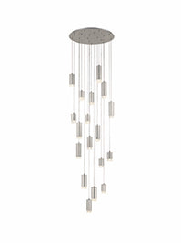FLF3415-18SN Eileen 18 Light Fitting in Brushed Satin Nickel Colour